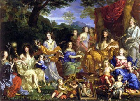 Lukisan dari keluarga Louis XIV